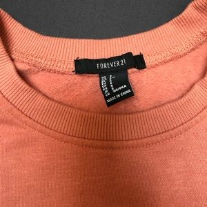 Forever 21 Sweaters - Cropped salmon fleece crew neck